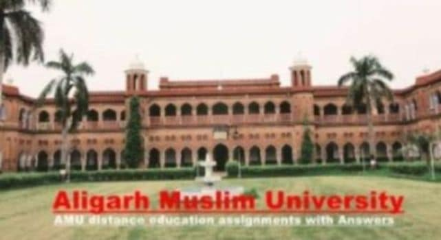 AMU distance education assignments